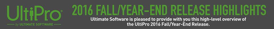 UltiPro Release Header