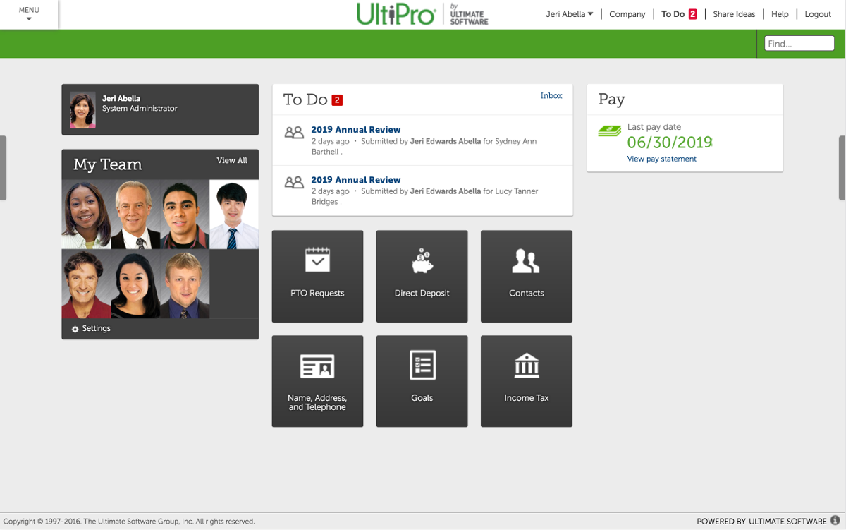 Business and Employee Portal - Mobile HR Software | UltiPro®