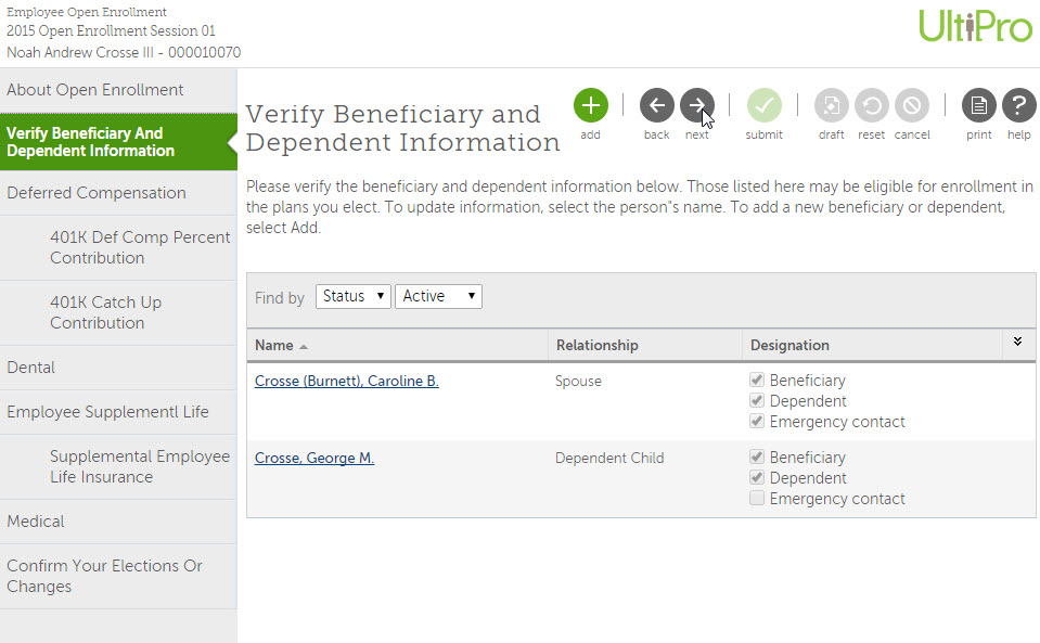 Allow your employees to make their own HR updates to benefits and personal information, online.