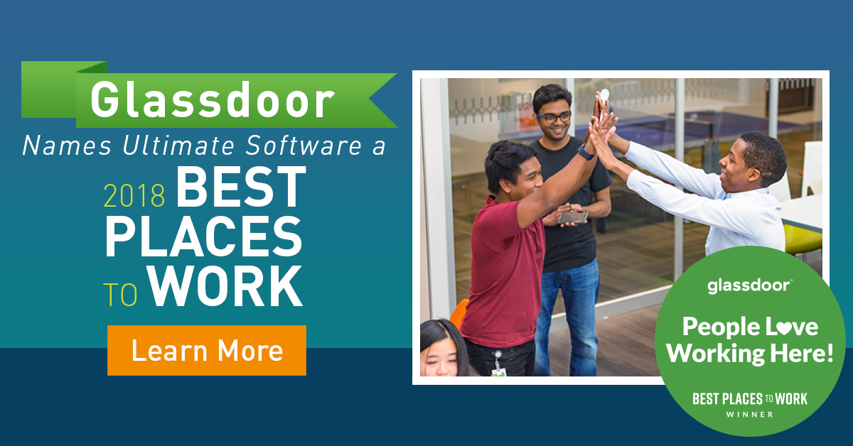 Ultimate Software Honored As A Glassdoor Employees Choice