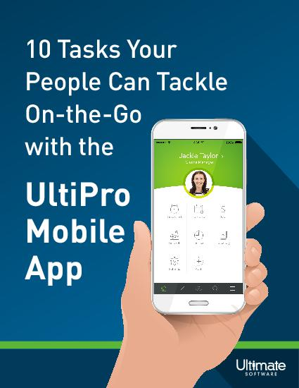 Learn how the UltiPro mobile app makes it easy to stay connected to the people and HCM information you need—even when you're on the go.