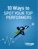 Stylized employee inside a star- 10 Ways to Spot Your Top Performers - HCM Whitepaper