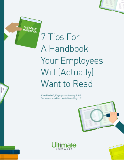 Download the 7 Tips for a Handbook that Employees Will (Actually) Want to Read - HCM Whitepaper