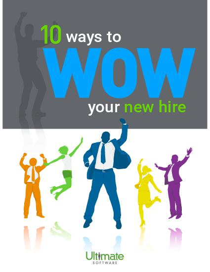 Newly hired employee jumping for joy; 10 Ways to Wow Your New Hire