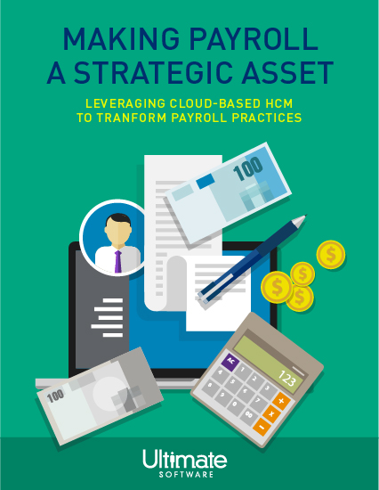 Businesswoman presenting a strategic plan for payroll to managers and executives- HRM Whitepaper
