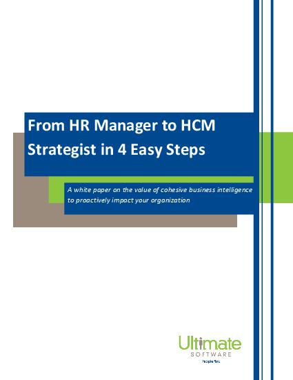 From HR Manager to HCM Strategist in 4 Easy Steps