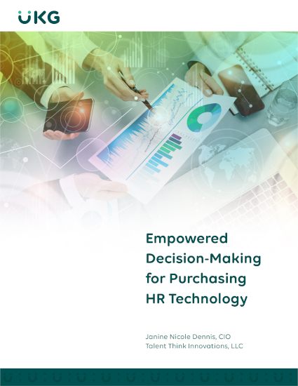 Access your business case whitepaper – Empowered Decision-Making for Purchasing HR Technology