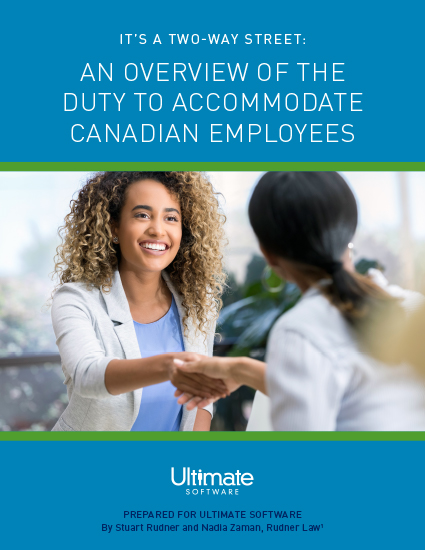 The Duty to Accommodate Canadian Employees: It's a Two-Way Street