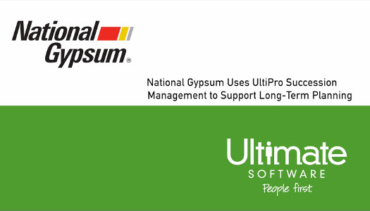 National Gypsum uses UltiPro for Long-Term Planning